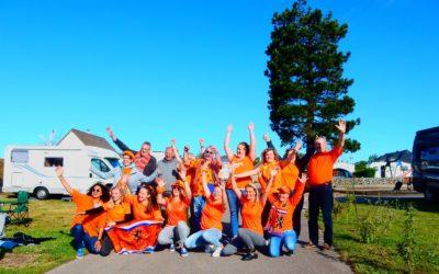 Le camping aux couleurs de la hollande pour la coupe du monde de foot féminin